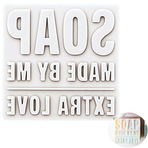1pc faite par moi à la main de silicone de moule rectangle timbres personnalisés en caoutchouc messa sku-133059
