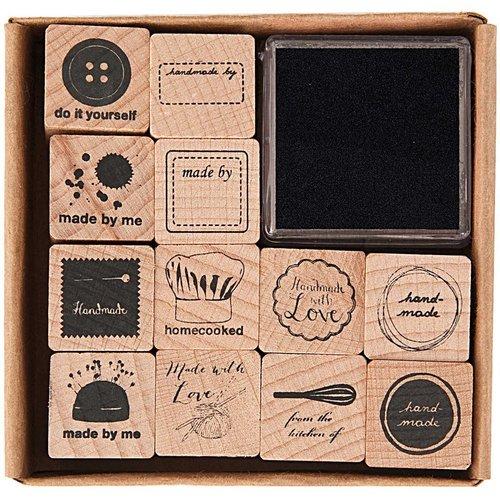 12pcs à la main ensemble de timbres de cartes de le faire vous-même personnalisé personnalisés le ca sku-133070
