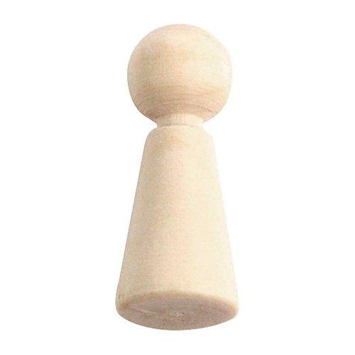 5pcs conu figure prêt à peindre bricolage naturel rustique en bois miniature poupées faites à la mai sku-132998