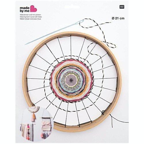 1pc en bois ronde perles de tissage de de métier à tisser avec des trous débutants bricolage bijoux  sku-133027