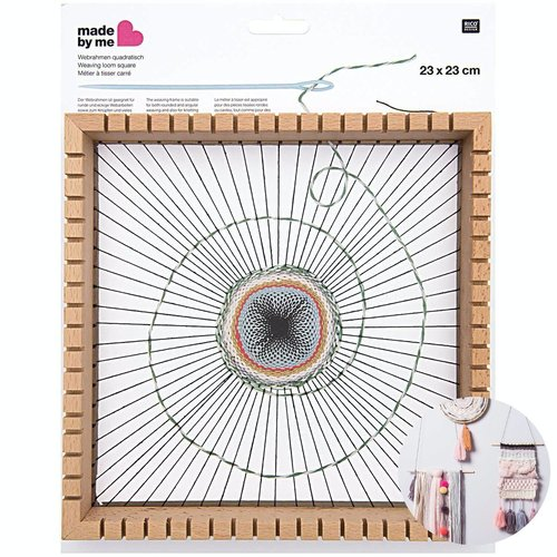 1pc carré en bois perles de tissage de de métier à tisser les débutants diy bijoux tapisserie cadre  sku-133028