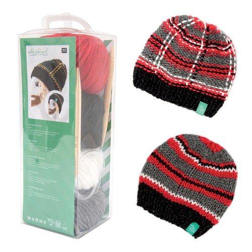 1pc couleur mix cap mens hat kit d'aiguilles à tricoter à la main pour les débutants cadeau lui arti sku-133031