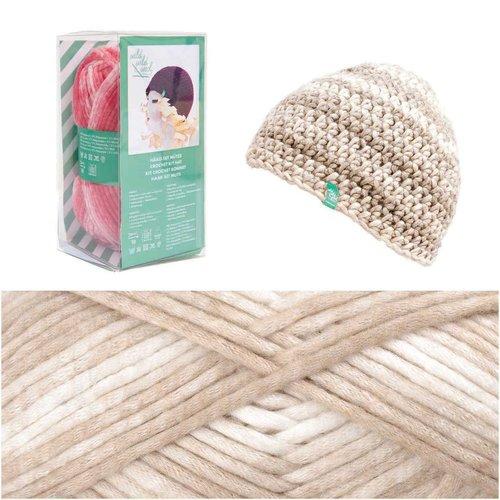 1pc brun clair crochet tricot chapeau cap kit fait à la main pour les débutants les enfants de l'art sku-133033