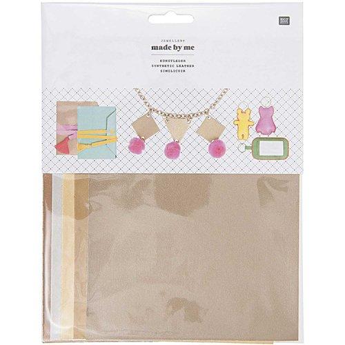 5pcs mélange métallique de couleur synthétique simili cuir végétalien ensemble de draps kit d'artisa sku-133040