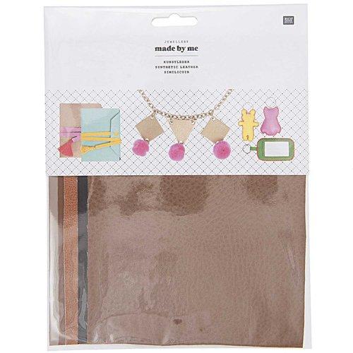 5pcs naturel de couleur mix synthétique faux végétalien grain de cuir ensemble de draps kit d'artisa sku-133042