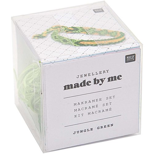 1pc jungle vert macrame bobo bracelet noeud pattern set kit de bricolage à la main la fabrication de sku-133044