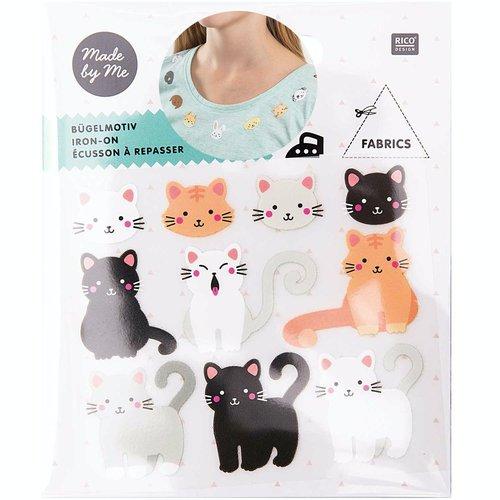 1pc mix animal têtes de chat de fer sur la colle patch applique à la main des vêtements de badge sku-133063