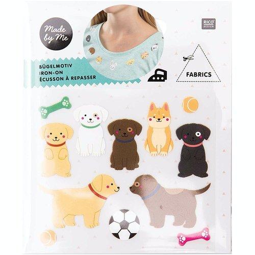 1pc mélange d'animaux chien chiot de fer sur la colle patch applique à la main des vêtements de badg sku-133064