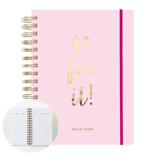 1pc bullet journal spirale lier 96 feuilles agenda personnalisé planificateur de papier de cahier d' sku-133080
