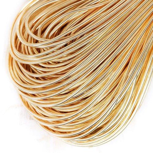 10g de crème légère ronde en or lisse de cuivre à la main broderie française fine du fil métallique  sku-133165