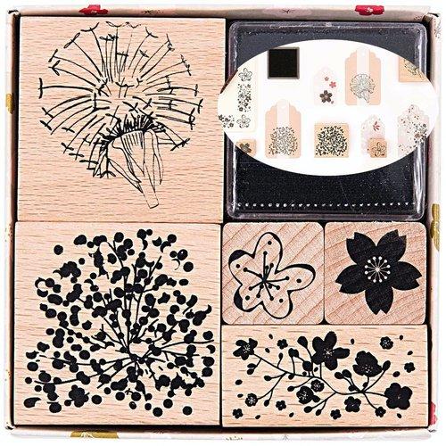 5pcs fleur de pissenlit la fabrication de cartes de à la main ensemble de timbres personnalisés le c sku-133060