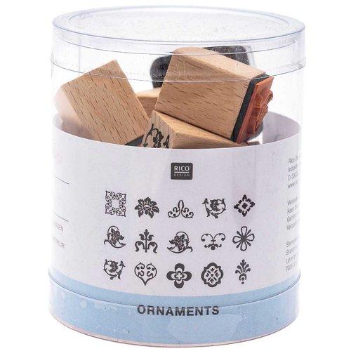 15pcs ornements fleur ensemble de timbres le bricolage de l'artisanat personnalisé personnalisés le  sku-133086
