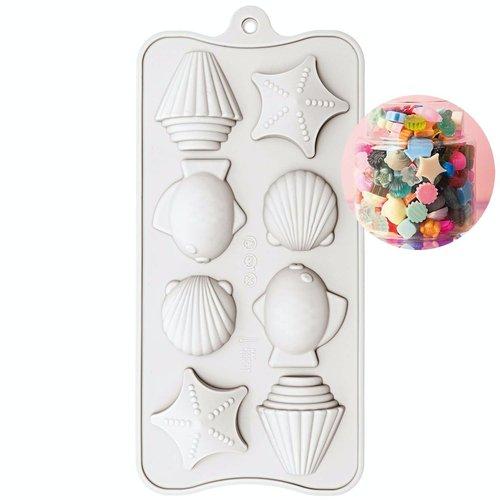 1pc maritime de crustacés étoiles de moule en silicone de cadre de bonbons réglage de la fabrication sku-133057