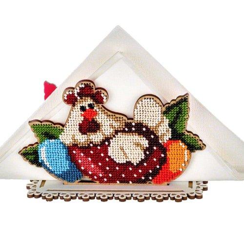 Poulet oeuf de poule porte-serviettes en perles de pâques kit de bricolage en bois toile broderie ar sku-255021