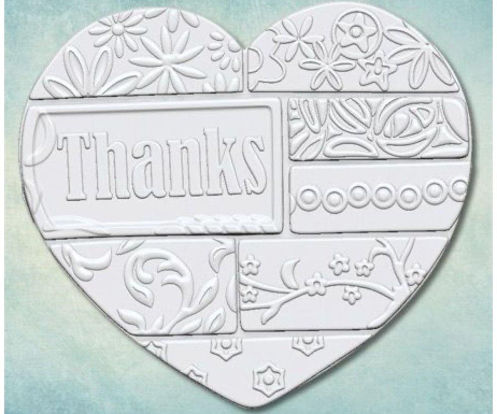 1Pc Grâce Floral Grand Patchwork Coeur 3D En Silicone De Sucre Message De Noël En Pain D'Épice Amour SKU-257452