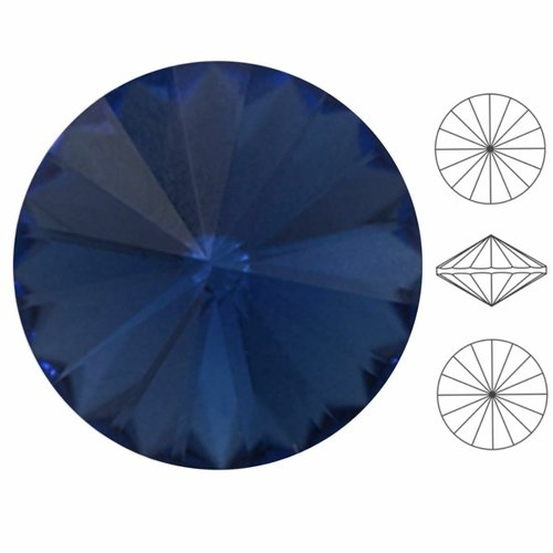 6 pièces izabaro cristal montana saphir bleu 207 rond rivoli verre cristaux 1122 pierre chatons face sku-549199