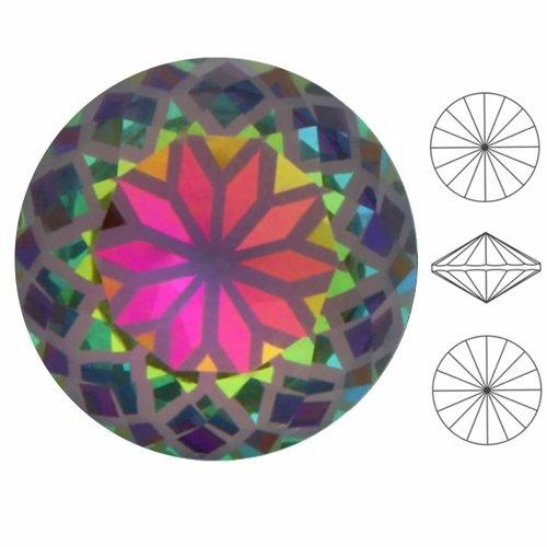 2 pièces izabaro cristal mandala vitrail moyen 001mvm rond rivoli verre cristaux 1122 pierre chatons sku-549205