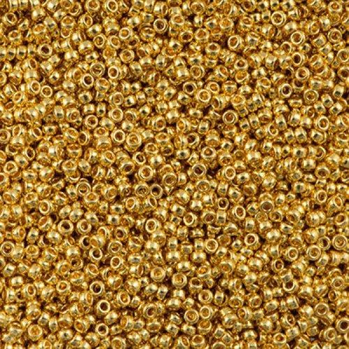 10g duracoat galvanisé or jaune 94203 15/0 verre rond japonais miyuki perles de rocaille 1.5x1.3mm sku-541085
