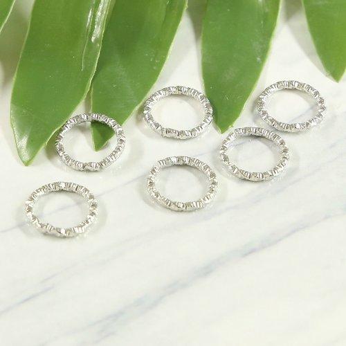 33 pièces argent rond sculpté anneau de saut fendu en métal bricolage anneaux ouverts connecteurs ré sku-686376