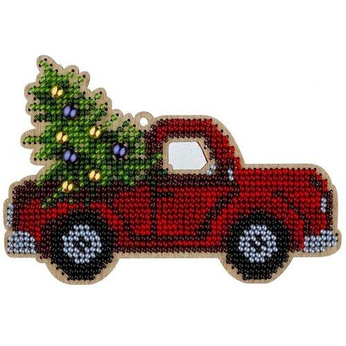 1 pc voiture de camion avec kit de bricolage perlé de graine d'arbre de noël ornement de sur toile e sku-687265