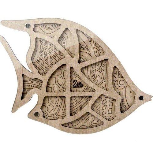 Boîte d'artisanat organisateur de perles de poisson 1pc mallette de rangement pour la fabrication de sku-687528