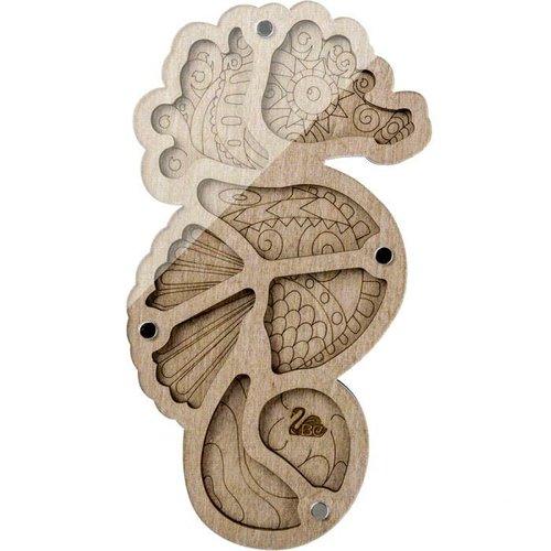 1pc boîte d'artisanat organisateur de perles d'hippocampe mallette de rangement pour la fabrication  sku-687537