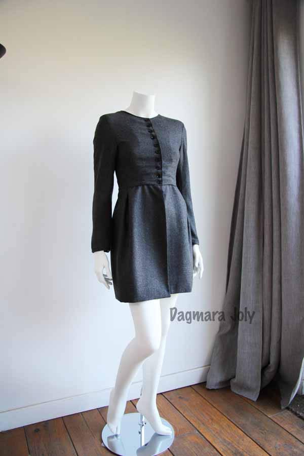 Veste femme grise à basque