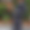 Manteau à carreaux gris noir manches raglan
