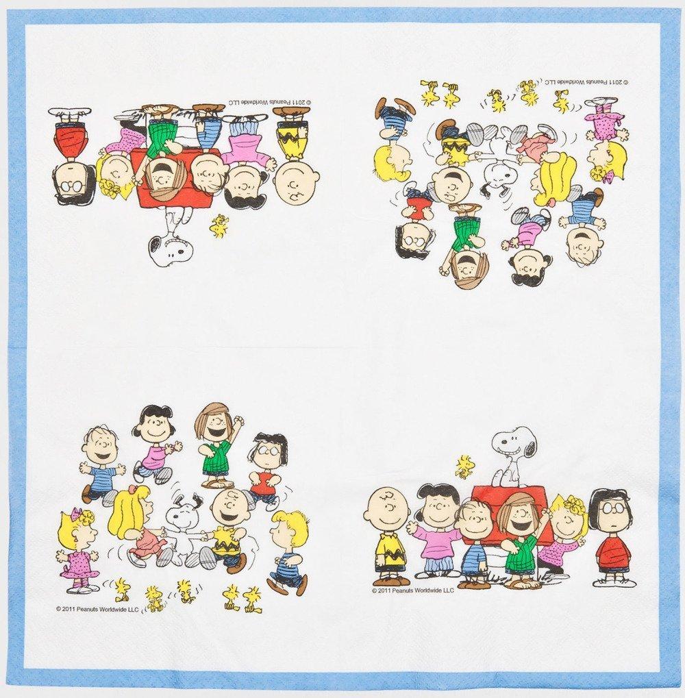 Serviette en papier Motif snoopy, charlie brown et personnages peanuts