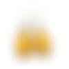 Boucles d'oreilles jaunes - bijoux jaunes - boucles gouttes jaunes, moutarde, bijoux simples