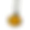 Collier jaune, collier simple, bijoux jaune, collier résine, moutarde