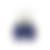 Boucles d'oreilles pendantes bleues, boucles gouttes bleu foncé, minimaliste, monochrome