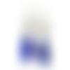 Boucles d'oreilles plumes bleues, style boho, boucles beiges