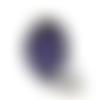 Bague bleue, bijoux bleus, bague ethnique, rosace bleue, mandala