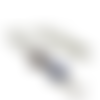 Collier bleu, bijoux bleus, email blanc