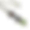 Collier paon, petit collier, email vert, bijoux paon , boheme,