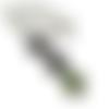 Collier noir, collier boheme, email verte, bijoux noirs