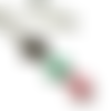 Collier vert d'eau, collier menthe, email rose, bijoux verts , boheme
