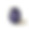 Bague mandala bleu, bijoux bleus, bague ethnique,  rosace bleue, bague wax, style africain