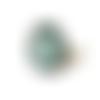 Bague motif vert et blanc, motif abstrait, géométrique
