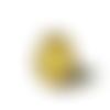 Bague jaune, bague motif géométrique,, motif japonais