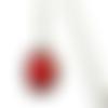 Collier bordeaux, collier simple, bijoux rouges, collier résine,