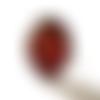 Bague fleurs vintage, bijoux fleurs rouges, bijoux style boheme