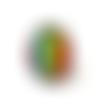Bague motif abstrait coloré , arc en ciel, bague lgbt