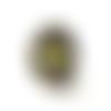 Bague hexagones noirs, jaunes, blancs, gris, bague géométrique
