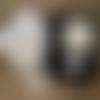 """2 torchons cuisine coton bio : eponge essuie main et essuie verre carreaux thème """"ciseau de couture"""""""