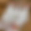 3 torchons de cuisine campagne chic coton poules et coqs vintage en lin metis blanc