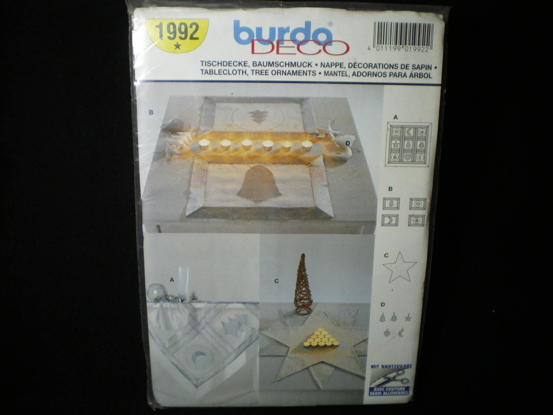 Patron Burda déco n° 1992 nappe et décoration de sapin