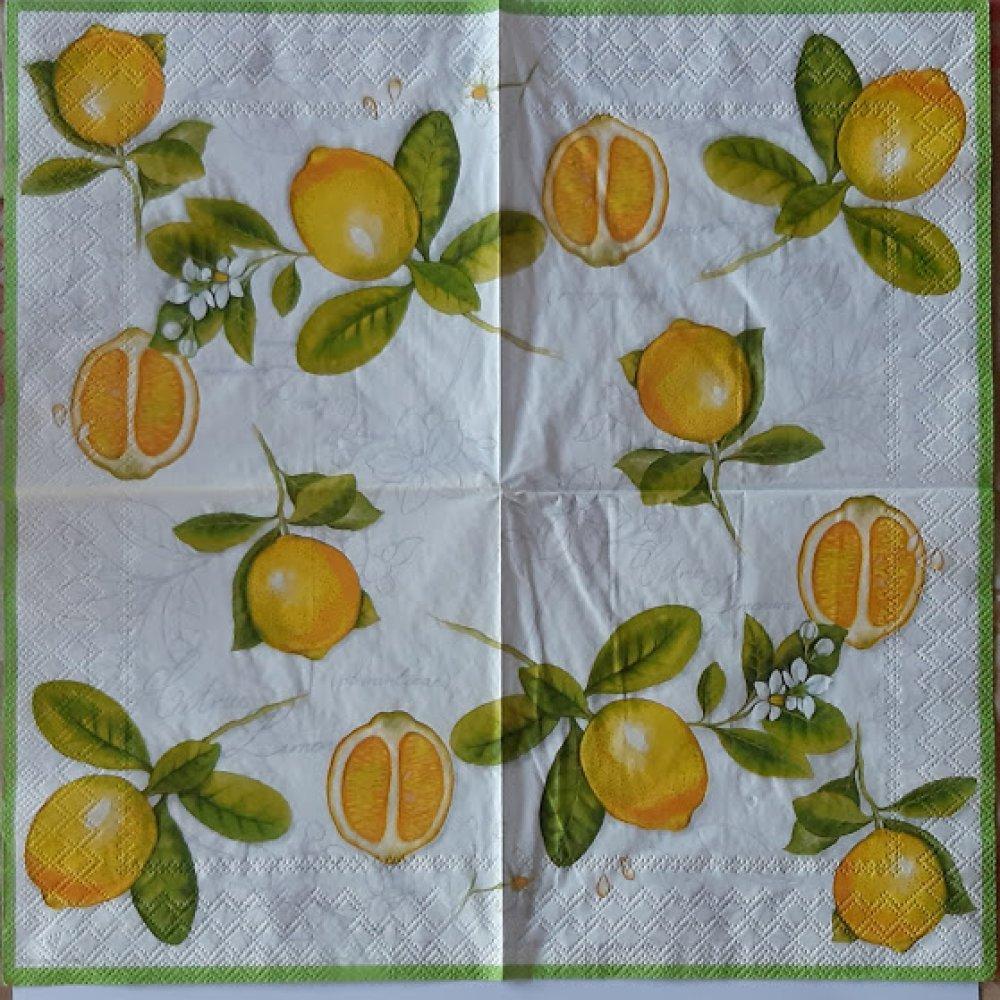 """Serviette en papier """"Citrons"""""""