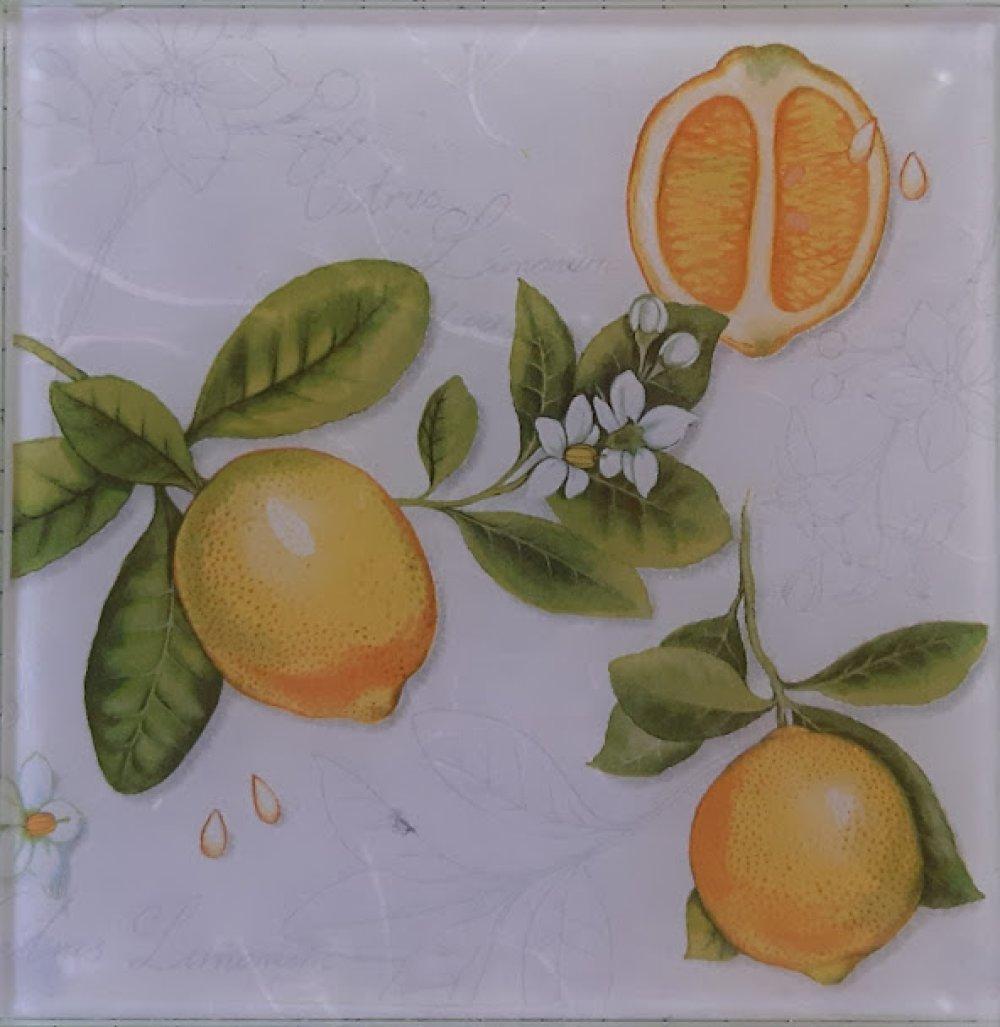 """Dessous de plat  """"Citrons"""""""
